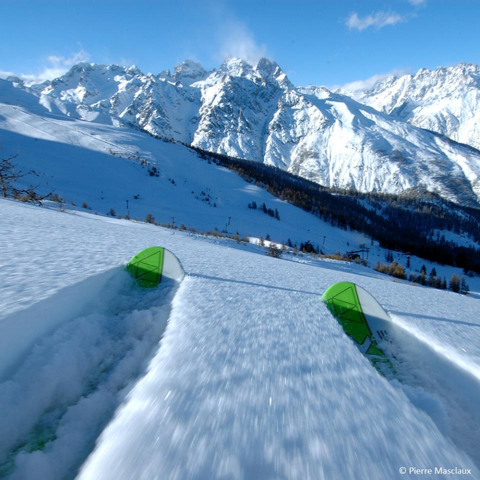 Domaine skiable dans les Alpes du Sud