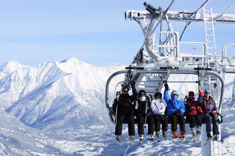 Station skiable dans les Alpes de Hautes Provence