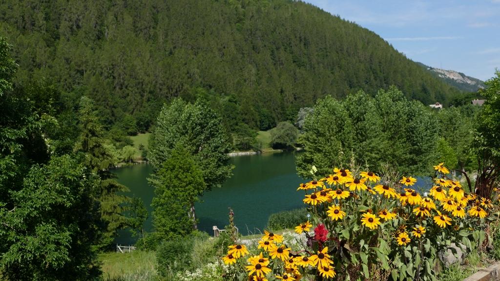 Lac du lauzet vu de la terrasse